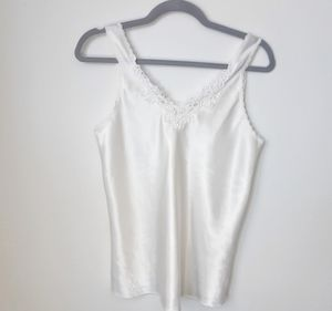 Vintage White Lace Shell